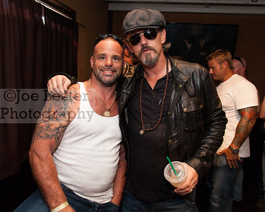 Matt Bradley (L) from TV's Deadliest Catch & Tommy Flanagan (R) from TV's Sons Of Anarchy at the Boot Ride, Hollywood, CA. 8-26-12