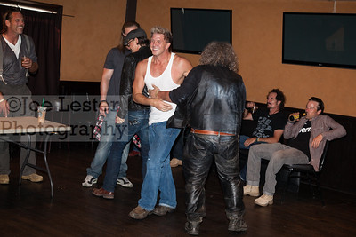 Cast Memebers of Son's of Anarchy wrestle and joke around at the Boot Ride event in Hollywood, CA. 8-26-12