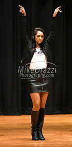 10/21/2017 Mike Orazzi | Staff Miss Bristol 2017 Gina Salvatore while rehearsing for the Miss Bristol/Forestville Pageant held at the Chippens Hill Middle School Saturday night.