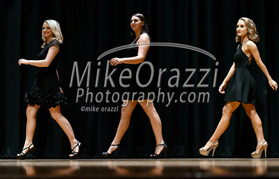 10/21/2017 Mike Orazzi | Staff Miss Bristol/Forestville 2018 Contestant Victoria Lemme, Courtney Ouellette and Micayla Barrows during the Miss Bristol/Forestville Pageant held at the Chippens Hill Middle School Saturday night.