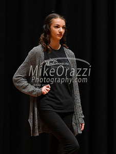 10/21/2017 Mike Orazzi | Staff Miss Forestville 2018 Contestant Amber Ouellette while rehearsing for the Miss Bristol/Forestville Pageant held at the Chippens Hill Middle School Saturday night.