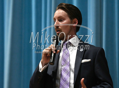 10/21/2017 Mike Orazzi | Staff Councilman Tony D'Amato during the Miss Bristol/Forestville Pageant held at the Chippens Hill Middle School Saturday night.