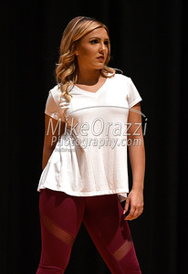 10/21/2017 Mike Orazzi | Staff Miss Bristol/Forestville 2018 Contestant Jillian Duffy while rehearsing for the Miss Bristol/Forestville Pageant held at the Chippens Hill Middle School Saturday night. Duffy was selected as Miss Forestville 2018.