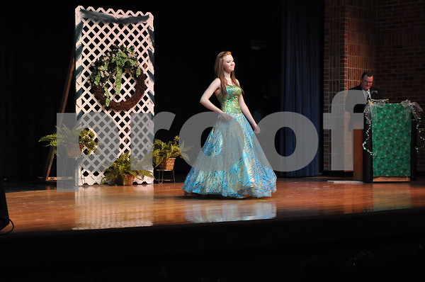 2014 Miss Shamrock winner Katlyn Moore, formal wear