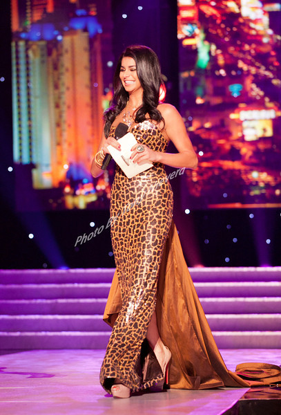 2010 Miss USA, Rima Fakih emcees  at the Miss USA Preliminary Competition at the Theatre of performing Arts at Planet Hollywood Resort & Casino, Las Vegas ,Nevada on June 15, 2011                                                                               © 2010 Tony Nievera / iPhotoLive.com