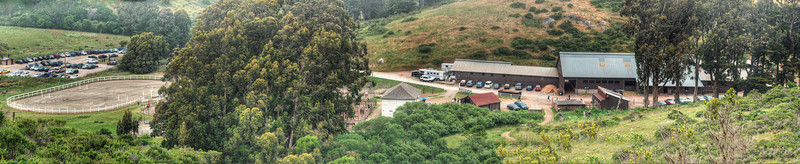 High-resolution panorama of the stables.  View in Original file size to see full detail (and see if you can spot the biological anomaly).