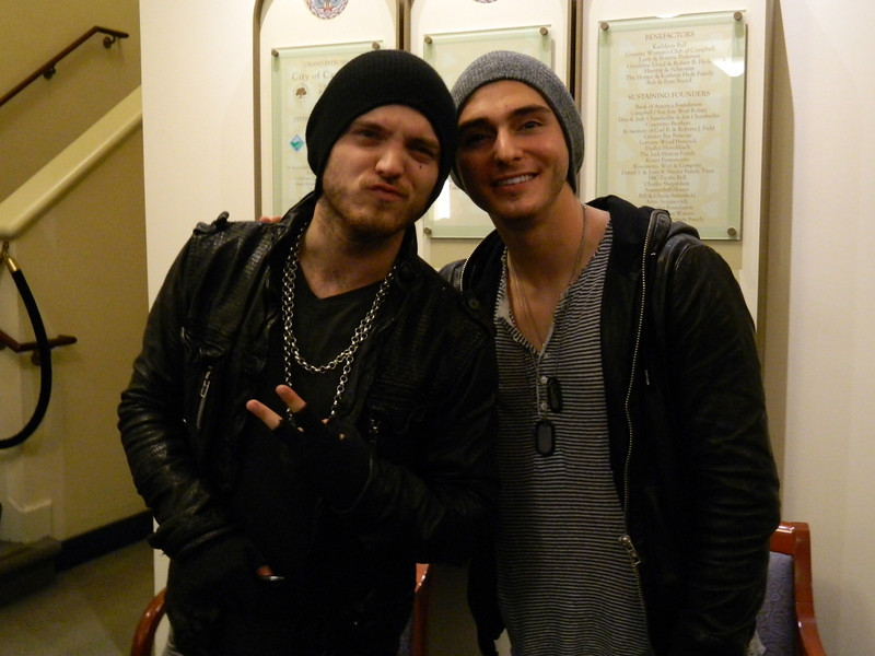 "Alexander DeLeon and Alex Marshall of the band ""The Cab."""