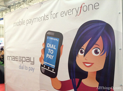 A section of the show floor was devoted to specialized topics, such as mobile payments.