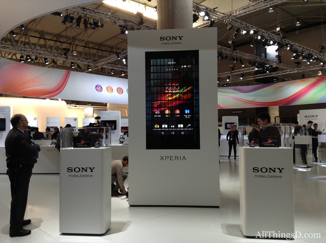 Sony's booth at Mobile World Congress 2013.