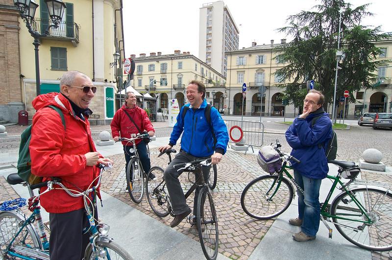sul campo (Piazza Facta, Pinerolo): Piero Quaglia, Flavio Fantone, Matteo Dondè, Marino Filippucci