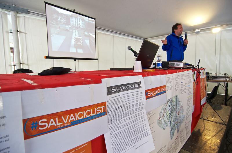 Salvaiciclisti del pinerolese e Matteo Dondè