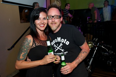 Jen and Shane Weber of Cincinnati at Mixx Ultralounge for the 2013 Queen City Mods Vs. Rockers Rally