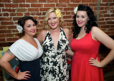 Sara Benagh, Sarah Stear and Coco Kollette at The Drinkery for the 2013 Queen City Mods Vs. Rockers Rally