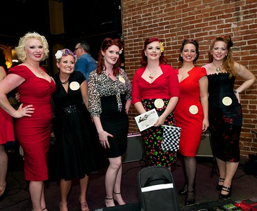 Holly, Amy, Crystal, Stella, Elizabeth and Ginger were contestants in a Pinup Girl contest at The Drinkery Saturday night for The 2013 Queen City Mods vs. Rockers Rally