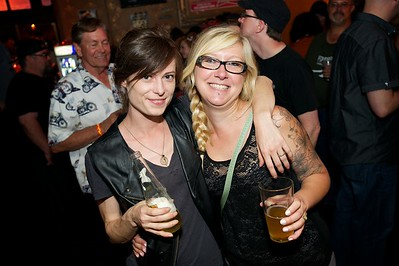Jil Baker and Sarah Schweitzer of Northside at The Drinkery for the 2013 Queen City Mods Vs. Rockers Rally