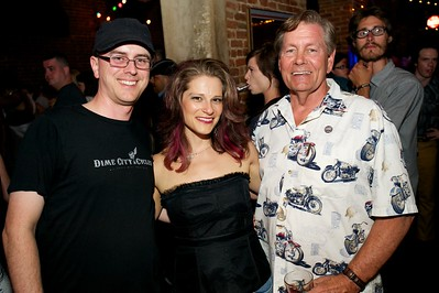Brian and Erin Cox with Bill Cox of West Chester at The Drinkery for the 2013 Queen City Mods Vs. Rockers Rally
