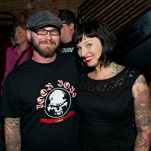 Josh Baker and Molly Wellmann of Cincinnati at Mixx Ultralounge for the 2013 Queen City Mods Vs. Rockers Rally