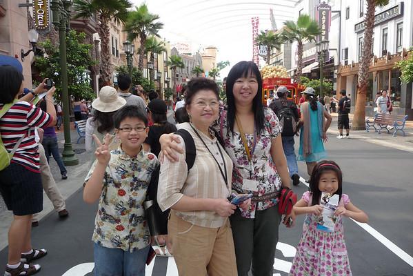 Mom at Universal Studios Singapore