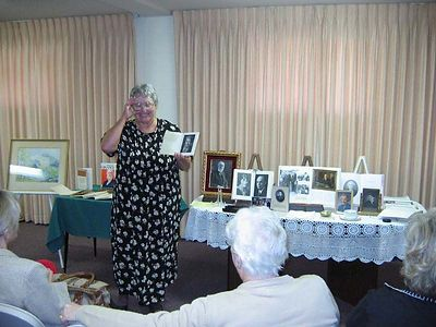 The next few pictures show Mom giving her presentation.
