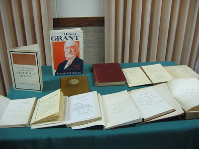 Also, Mom included a number of books autographed by Pres. Grant.