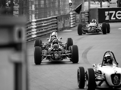 Past the Swimming Pool - bw Monaco Historic GP 2018