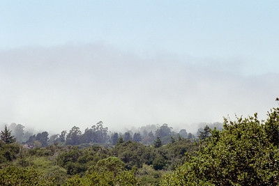 fog from viewpoint of coast highway 1