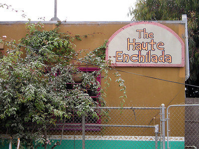 """In Moss Landing, they go for clever restaurant names. (I believe that the one at the turnoff from Hwy 1 was """"The Whole Enchilada."""" Apparently enchiladas are also big in M.L.)"""