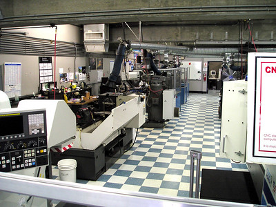 They have a huge machine shop onsite in one of the buildings. Four guys work in it full time, plus they have all kinds of other engineers and manufacturers.