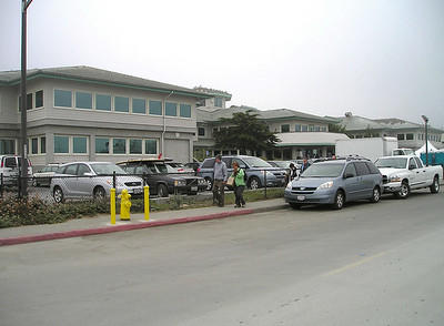 MBARI, related to Monterey Bay Aquarium primarily in that they were both founded and funded largely by David Packard, occupies two huge new buildings overlooking the harbor.