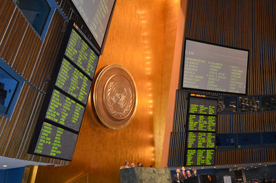 Vote tally appearing on the board.