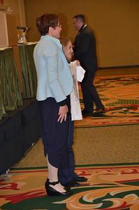 Judith Cunningham, MMUN Executive Director with T-shirt design winner.