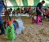 State Representative Mark Painter ( back R)  competes against State Rep. Mike Vereb in a Celebrity Goat Dressing Contest during the Montgomery County 4-H Fair in Skippack Township on Saturday August 9,2014. Photo by Mark C Psoras