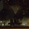 Fountain and steam at night