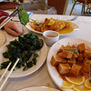 Mmmm, crispy fried spinach (and friends).