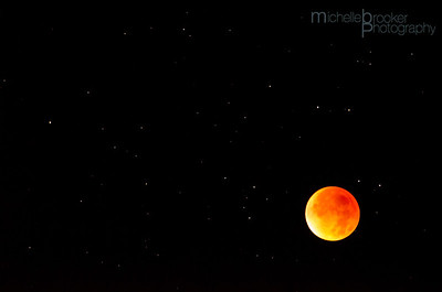 The Orange Moon and the stars.