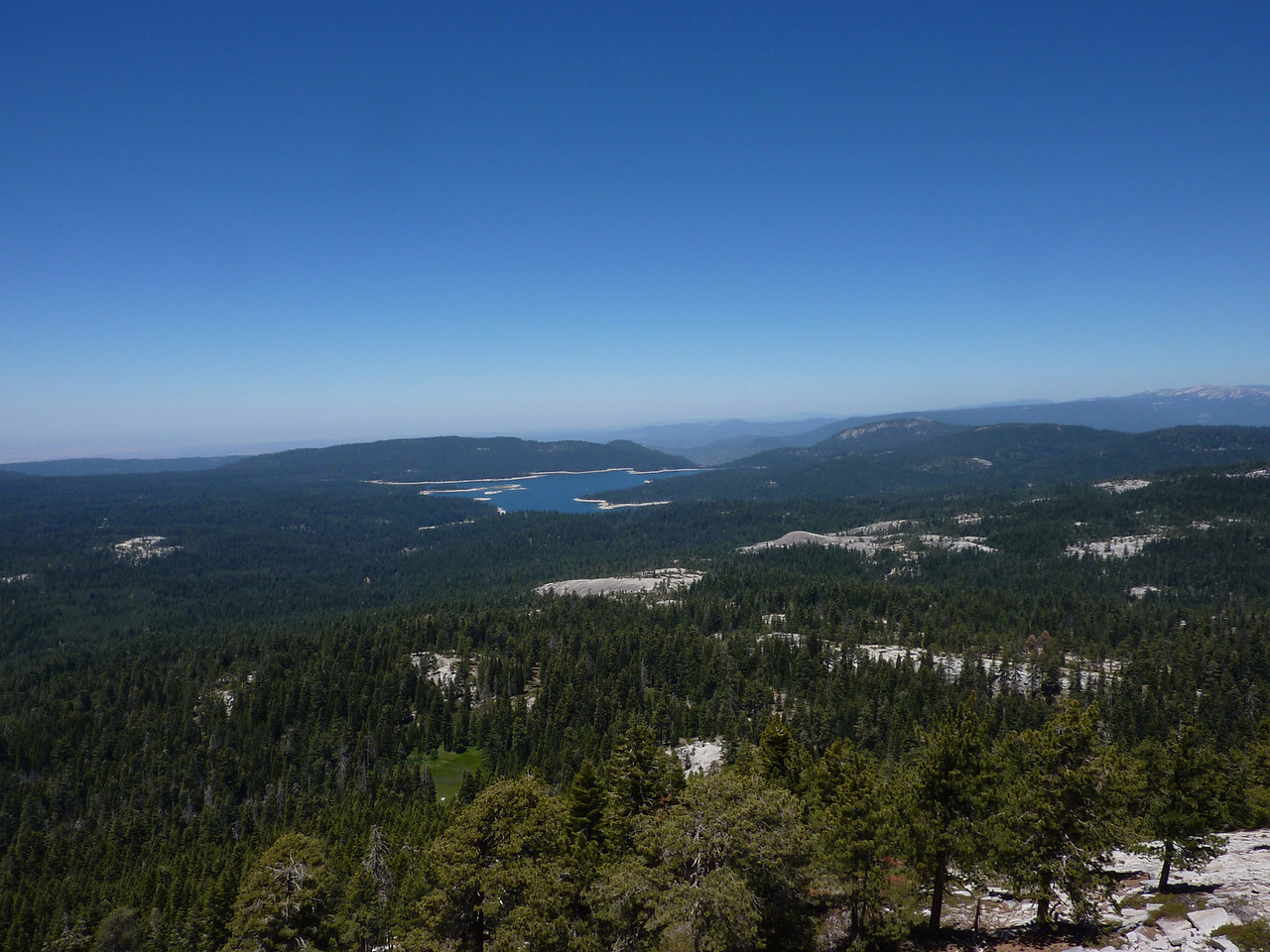 Shaver Lake from Bald Mountain lookout