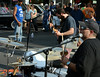 A band plays as classic cars are inspected by a packed crowd along York Rd for the 22nd Annual Moonlight Memories Car Show in Hatboro presented by the greater Hatboro Chamber of Commerce  on Saturday July 26,2014. Photo by Mark C Psoras/The Reporter