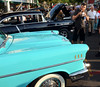 Classic cars are inspected by a packed crowd along York Rd for the 22nd Annual Moonlight Memories Car Show in Hatboro presented by the greater Hatboro Chamber of Commerce  on Saturday July 26,2014. Photo by Mark C Psoras/The Reporter