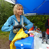 Gear choices and sleep deprivation !!  Susan Donnelly, during Superior Sawtooth 100 Mile Run, Sept. 11, 2010.