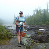 Joanne at Temperance River, Superior Hiking Trail.