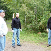 Getting ready to set up our aid station at Cramer Road.  Joanne and Paul at left, John Storkamp in center, Wade on right.  Sept. 10, 2010.