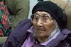 Moosonee Elders Gathering Centre Christmas Santa visit and Keewaytinok Native Legal Services consultation. Marguerite Wabano.