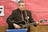 imagination library launch in moosonee, ontario - Timmins-James Bay Member of Parliament Charlie Angus performs a new composition
