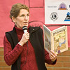 imagination library launch in moosonee, ontario-Ontario Education Minister Kathleen Wynne reading from a book by Dennis Lee