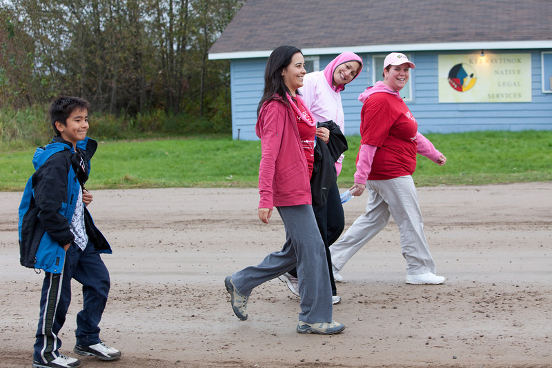 Canadian Breast Cancer Foundation CIBC Run for the Cure in Moosonee 2009 October 4th