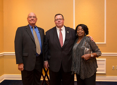 Russell Smith(Rose State), Bill Croak (FNB Community Bank), Betty Wright (Rose State)