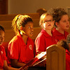 Students of all ages prayed and sang during the opening Mass of the new Mother Brunner Catholic School.