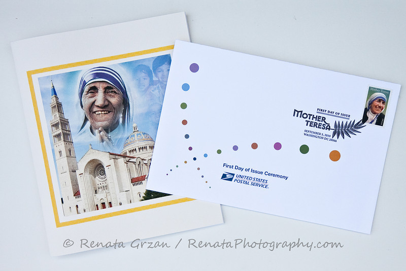 19- Mother Teresa Stamp - Renata Grzan