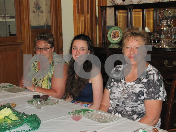 Judy Witt, Paige Copenhaver, and Sue Witt at the Mother/Daughter Tea at the historic Vincent House in Fort Dodge.