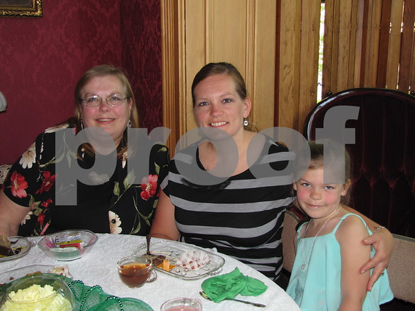 Shari Everhart, Shelby Wright and her daughter Ashtyn at the Mother/Daughter Tea.